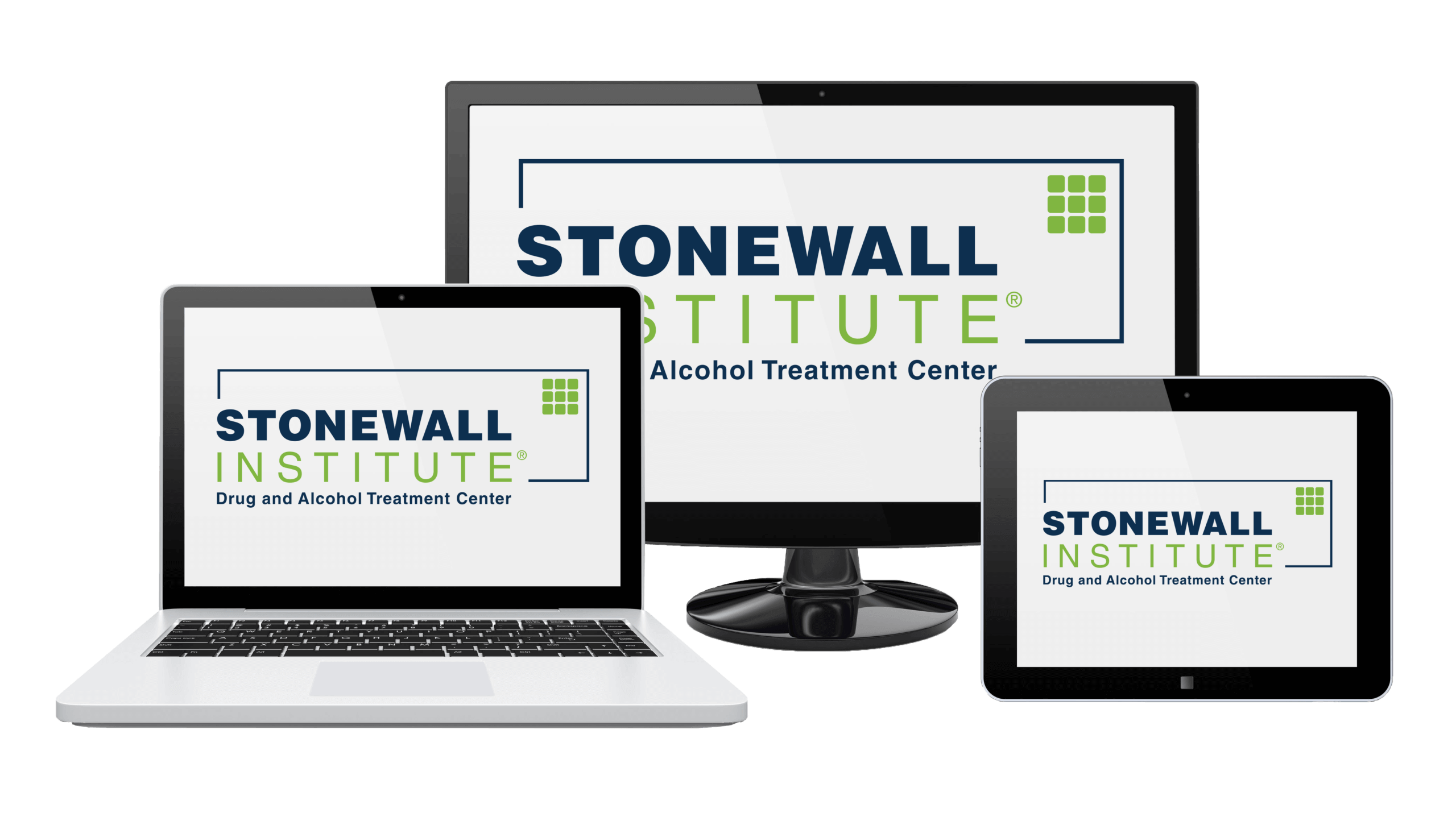 Various Screens with Stonewall Institute Logo
